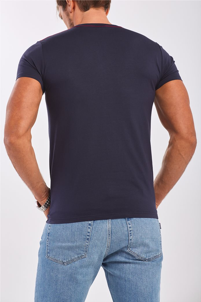 Gant ανδρικό T-shirt μονόχρωμο με κεντημένο logo 2