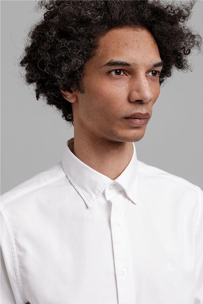 """Gant ανδρικό πουκάμισο μονόχρωμο Slim Fit """"Tech Prep™ Oxford"""" Μπλε Σκούρο 1"""