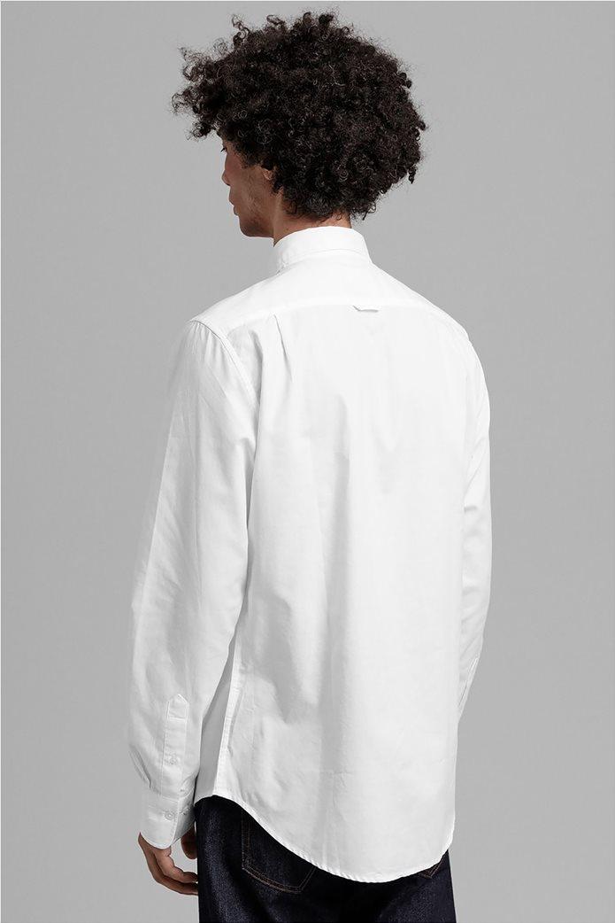 """Gant ανδρικό πουκάμισο μονόχρωμο Slim Fit """"Tech Prep™ Oxford"""" Μπλε Σκούρο 3"""