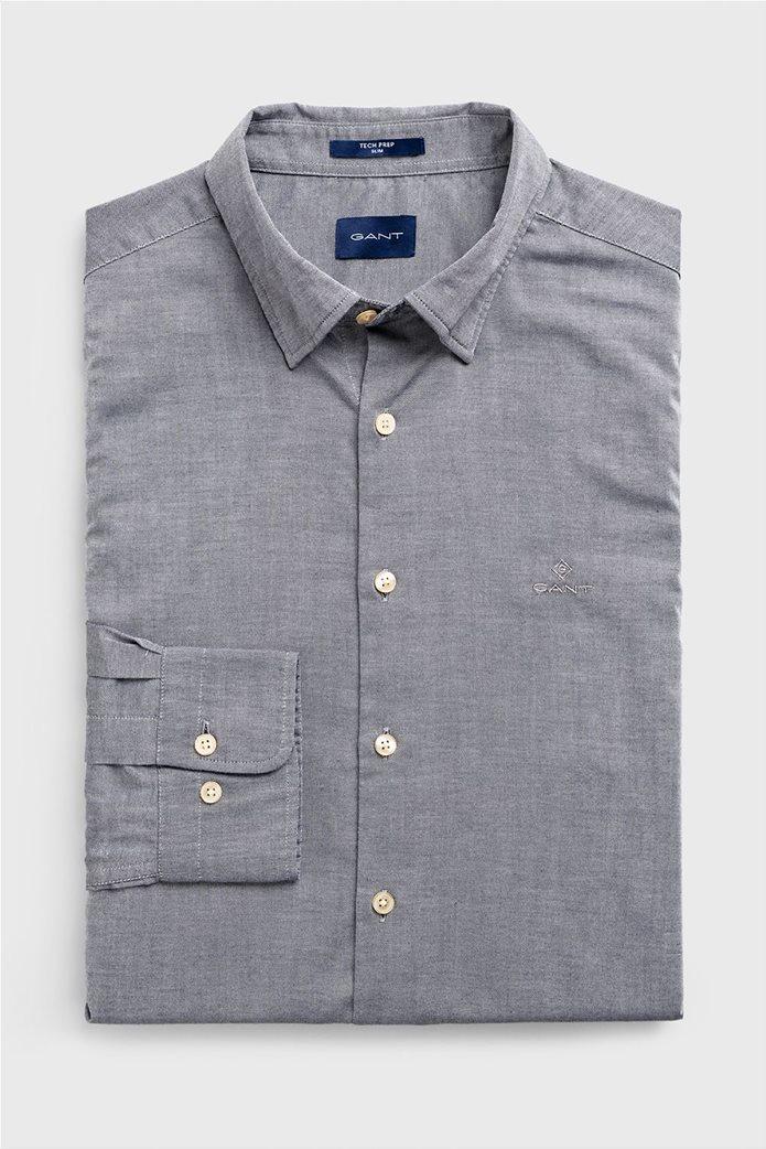 """Gant ανδρικό πουκάμισο μονόχρωμο Slim Fit """"Tech Prep™ Oxford"""" 0"""