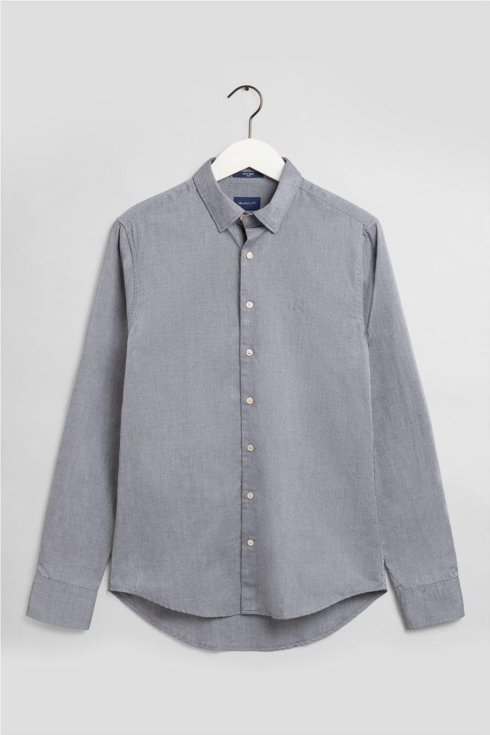 """Gant ανδρικό πουκάμισο μονόχρωμο Slim Fit """"Tech Prep™ Oxford"""" 3"""