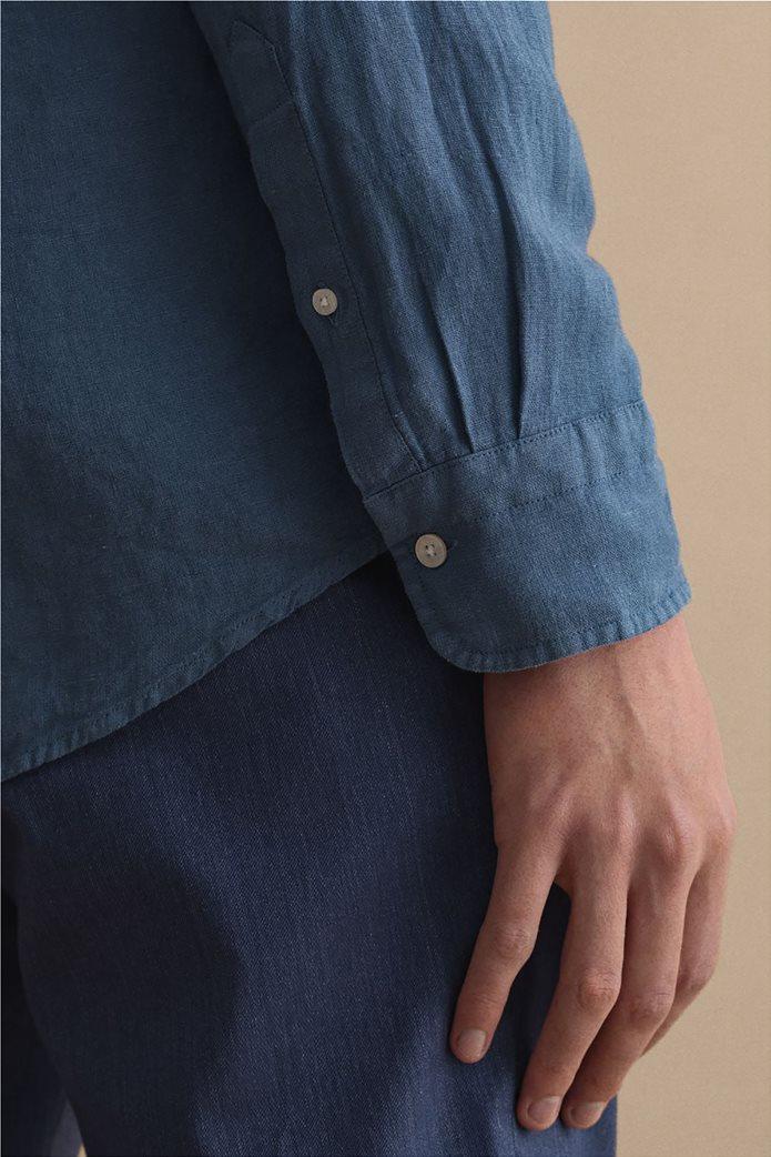 Gant ανδρικό πουκάμισο λινό με απλικέ τσέπη στο στήθος Regular Fit 4