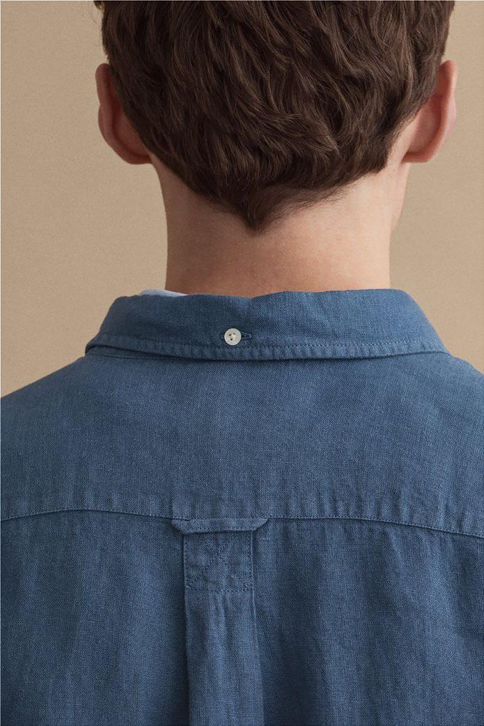 Gant ανδρικό πουκάμισο λινό με απλικέ τσέπη στο στήθος Regular Fit 5