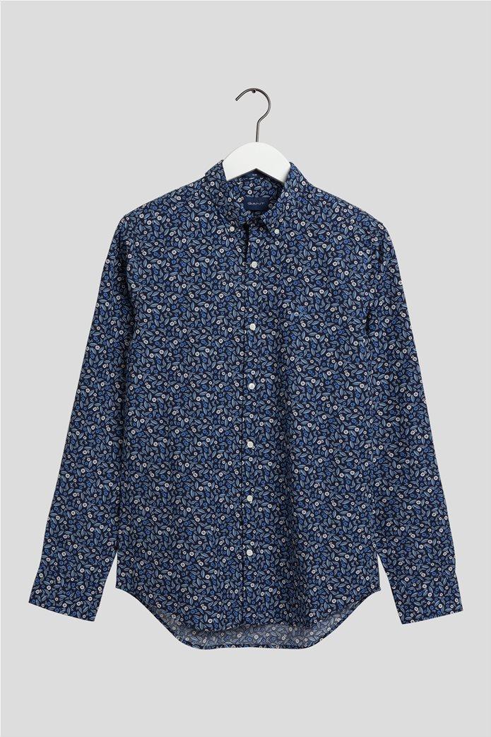 Gant ανδρικό πουκάμισο με all-over leaf print 0
