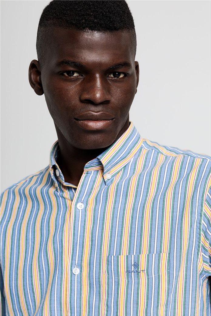 """Gant ανδρικό ριγέ πουκάμισο με κεντημένο logo """"Windblown Oxford """" 1"""