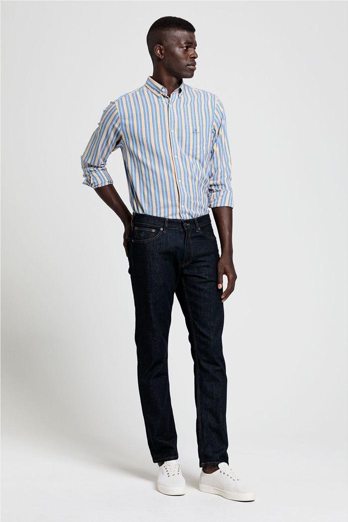 """Gant ανδρικό ριγέ πουκάμισο με κεντημένο logo """"Windblown Oxford """" 2"""