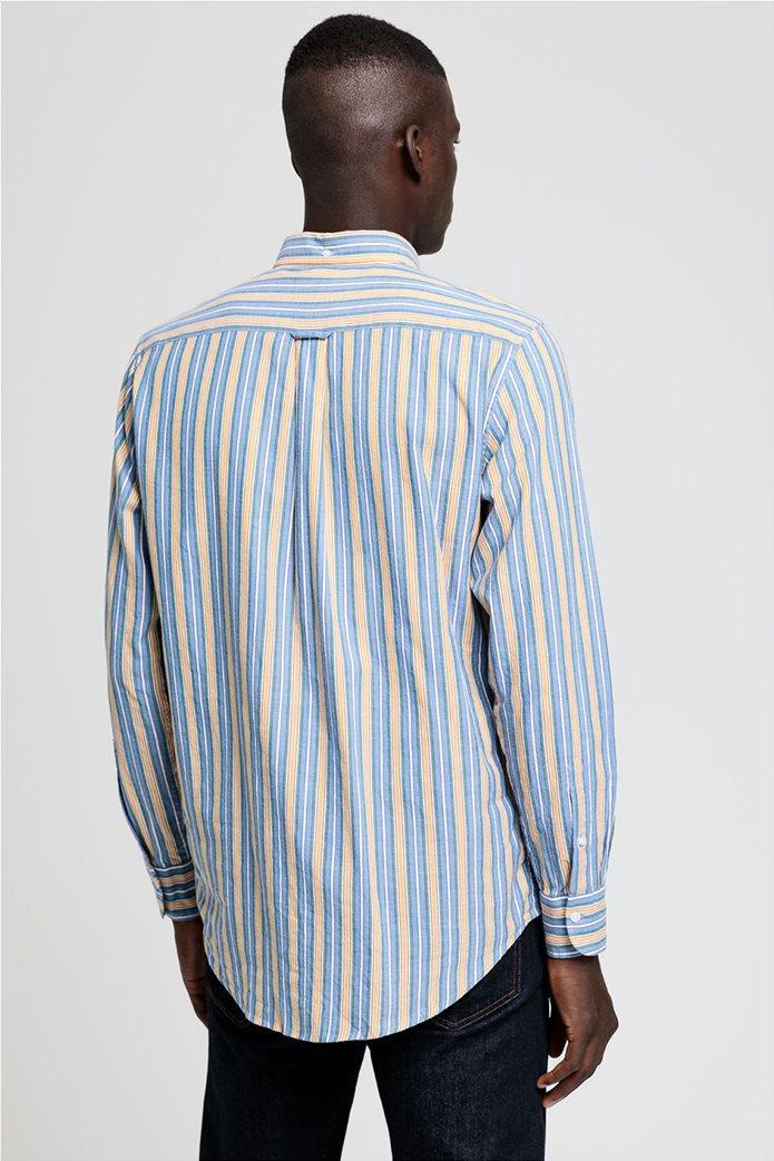 """Gant ανδρικό ριγέ πουκάμισο με κεντημένο logo """"Windblown Oxford """" 3"""