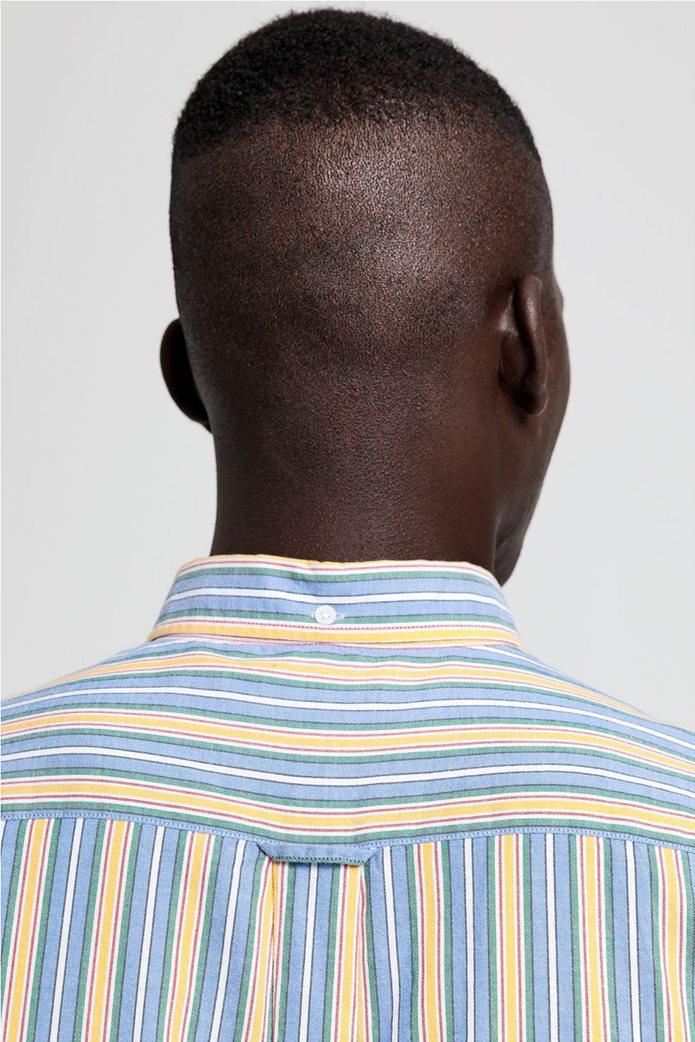 """Gant ανδρικό ριγέ πουκάμισο με κεντημένο logo """"Windblown Oxford """" 4"""