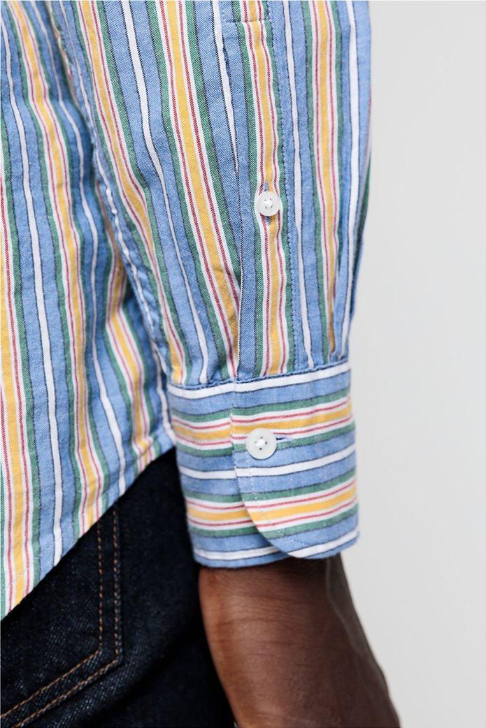 """Gant ανδρικό ριγέ πουκάμισο με κεντημένο logo """"Windblown Oxford """" 5"""