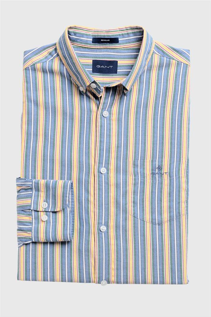 """Gant ανδρικό ριγέ πουκάμισο με κεντημένο logo """"Windblown Oxford """" 6"""