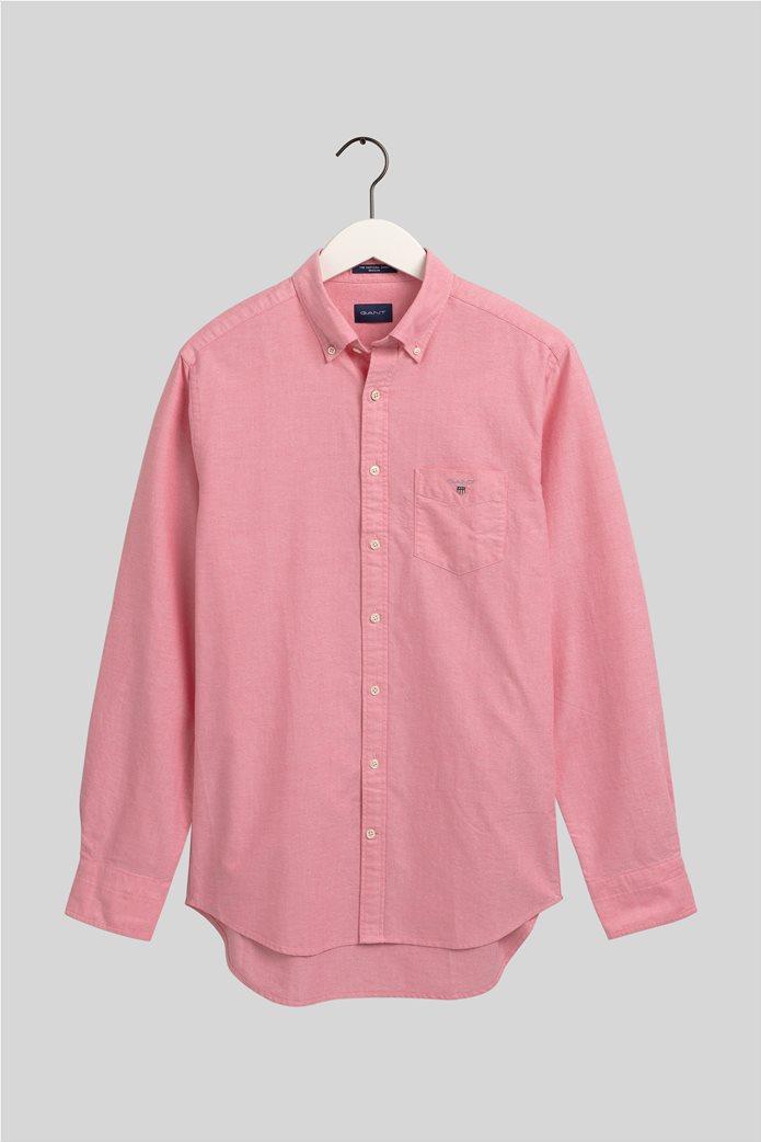 Gant ανδρικό πουκάμισο Regular Fit Oxford Κοραλί 0