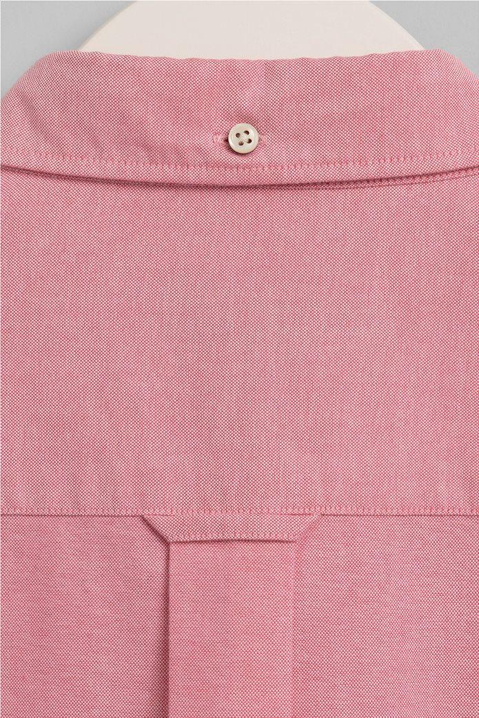 Gant ανδρικό πουκάμισο Regular Fit Oxford Κοραλί 2