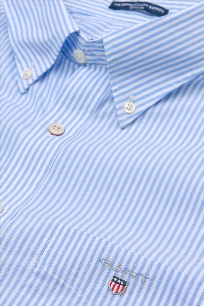 Gant ανδρικό πουκάμισο ριγέ Regular Broadcloth Banker 1