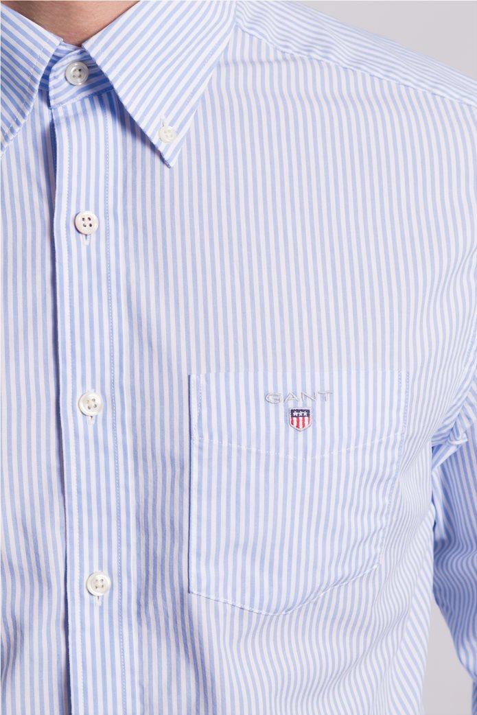 Gant ανδρικό πουκάμισο ριγέ Regular Broadcloth Banker 3