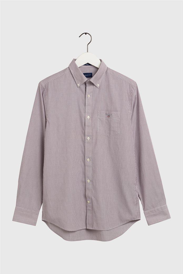 "Gant ανδρικό ριγέ πουκάμισο μακρυμάνικο ""Banker Broadcloth"" 4"