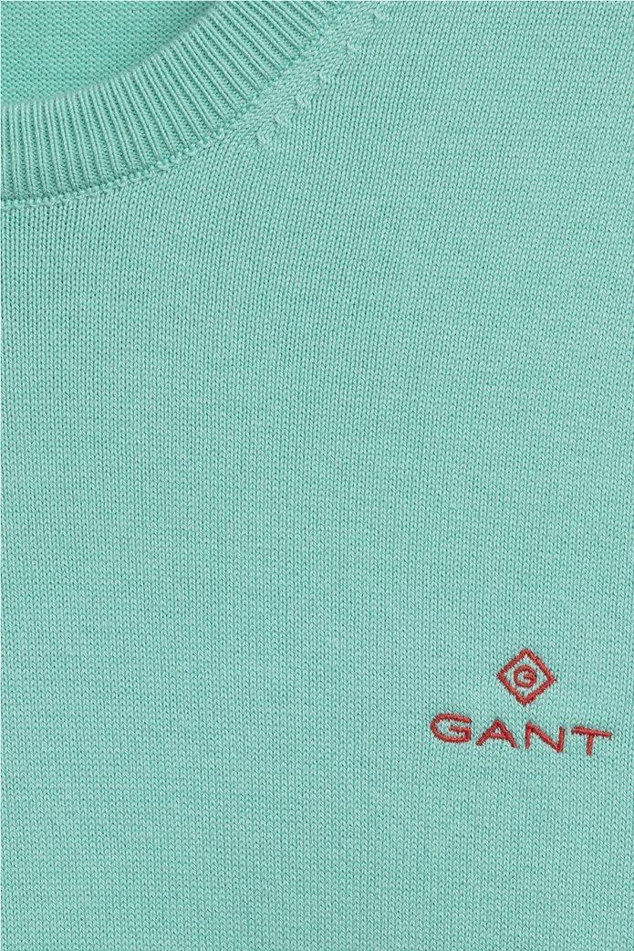 "Gant ανδρική πλεκτή μπλούζα μονόχρωμη με κεντημένο logo ""Contrast"" 1"