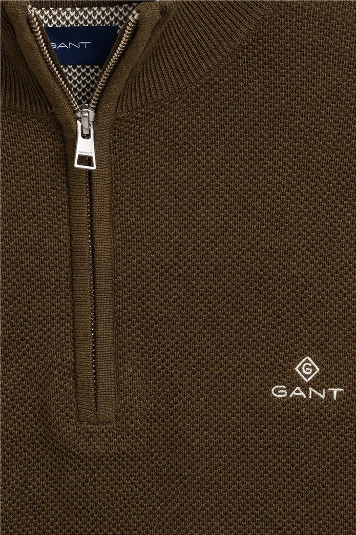 "Gant ανδρικό πικέ πουλόβερ με φερμουάρ 1/2 ""Troyer"" 1"