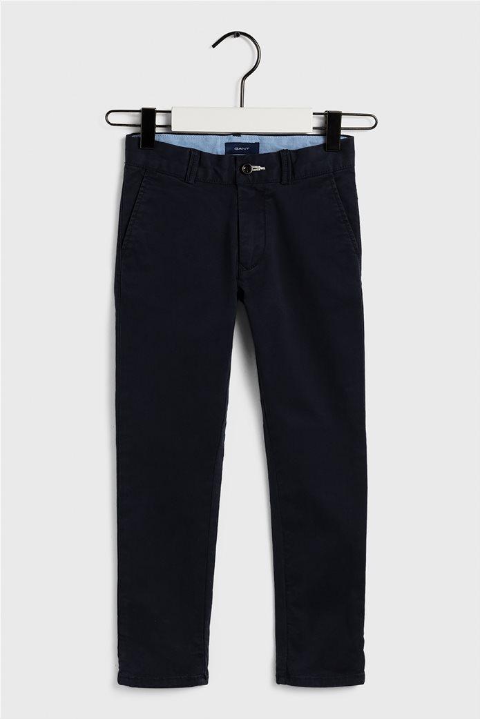 Gant παιδικό παντελόνι chino μονόχρωμο regular fit Μπλε Σκούρο 0