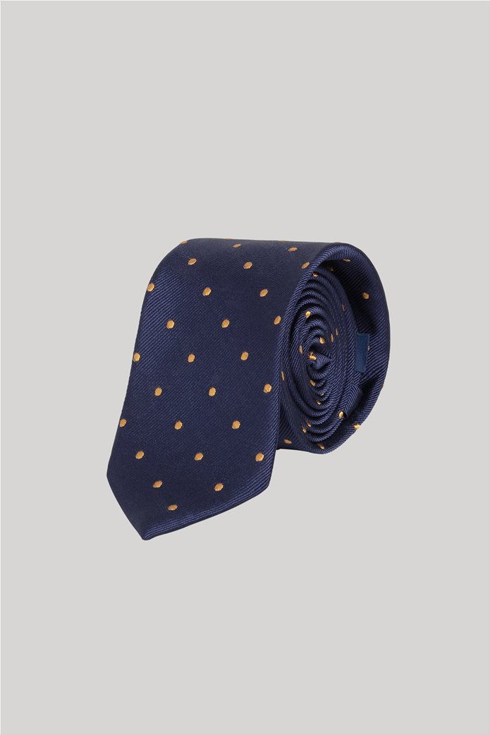Gant ανδρική μεταξωτή γραβάτα με πουά Μπλε 0