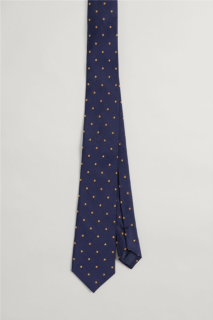 Gant ανδρική μεταξωτή γραβάτα με πουά Μπλε 1
