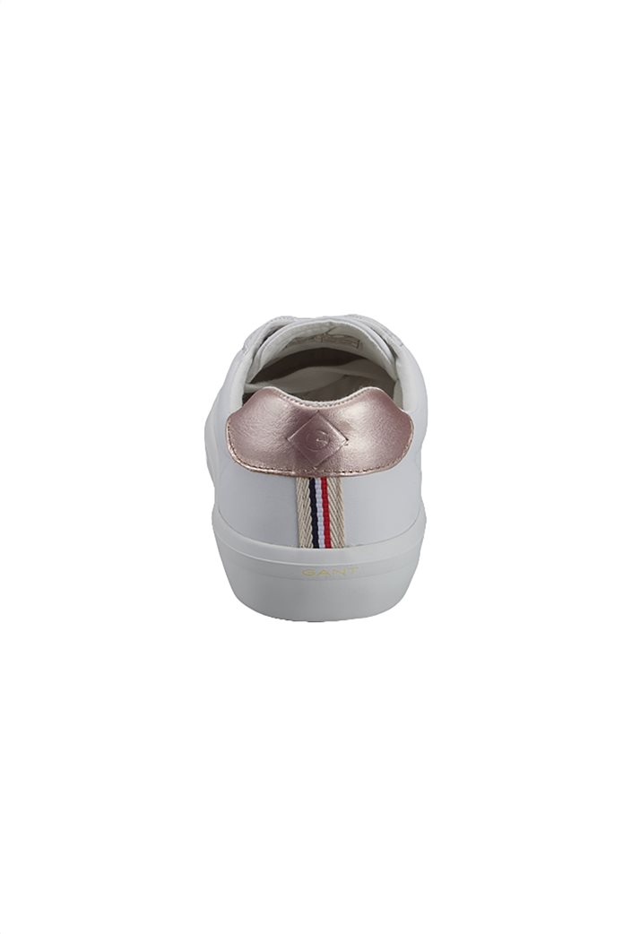 b4bbe83950 Gant γυναικεία δερμάτινα sneakers με λεπτομέρεια ροζ-χρυσό Baltimore 3