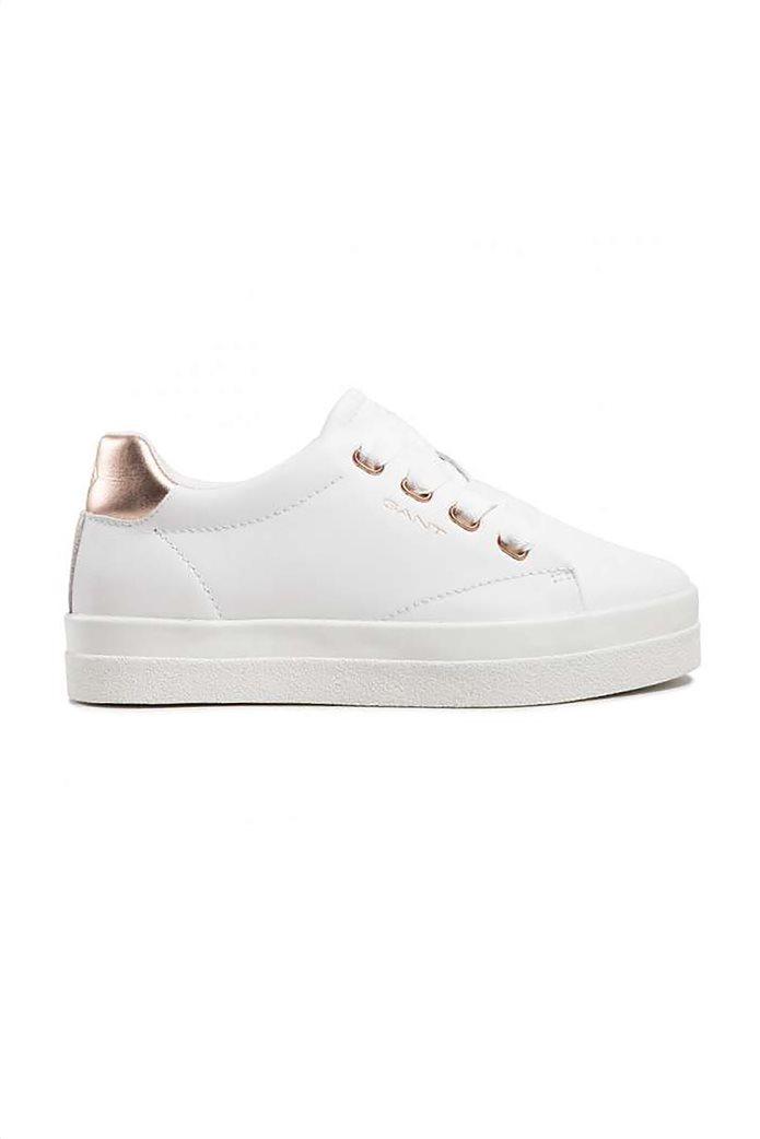 Gant γυναικεία sneakers με μεταλλιζέ λεπτομέρεια ''Avona'' Λευκό 0