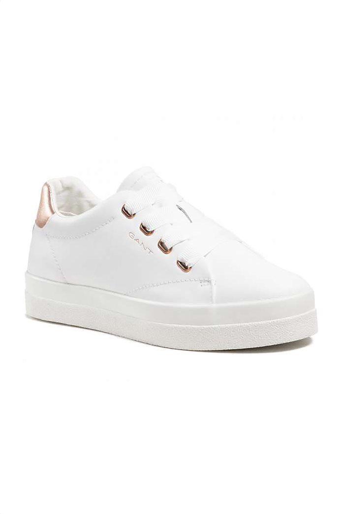 Gant γυναικεία sneakers με μεταλλιζέ λεπτομέρεια ''Avona'' Λευκό 1