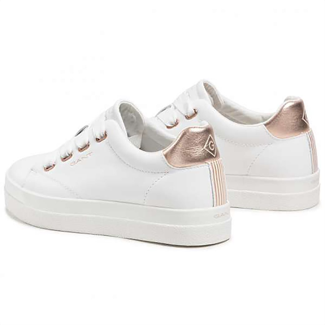 Gant γυναικεία sneakers με μεταλλιζέ λεπτομέρεια ''Avona'' Λευκό 2