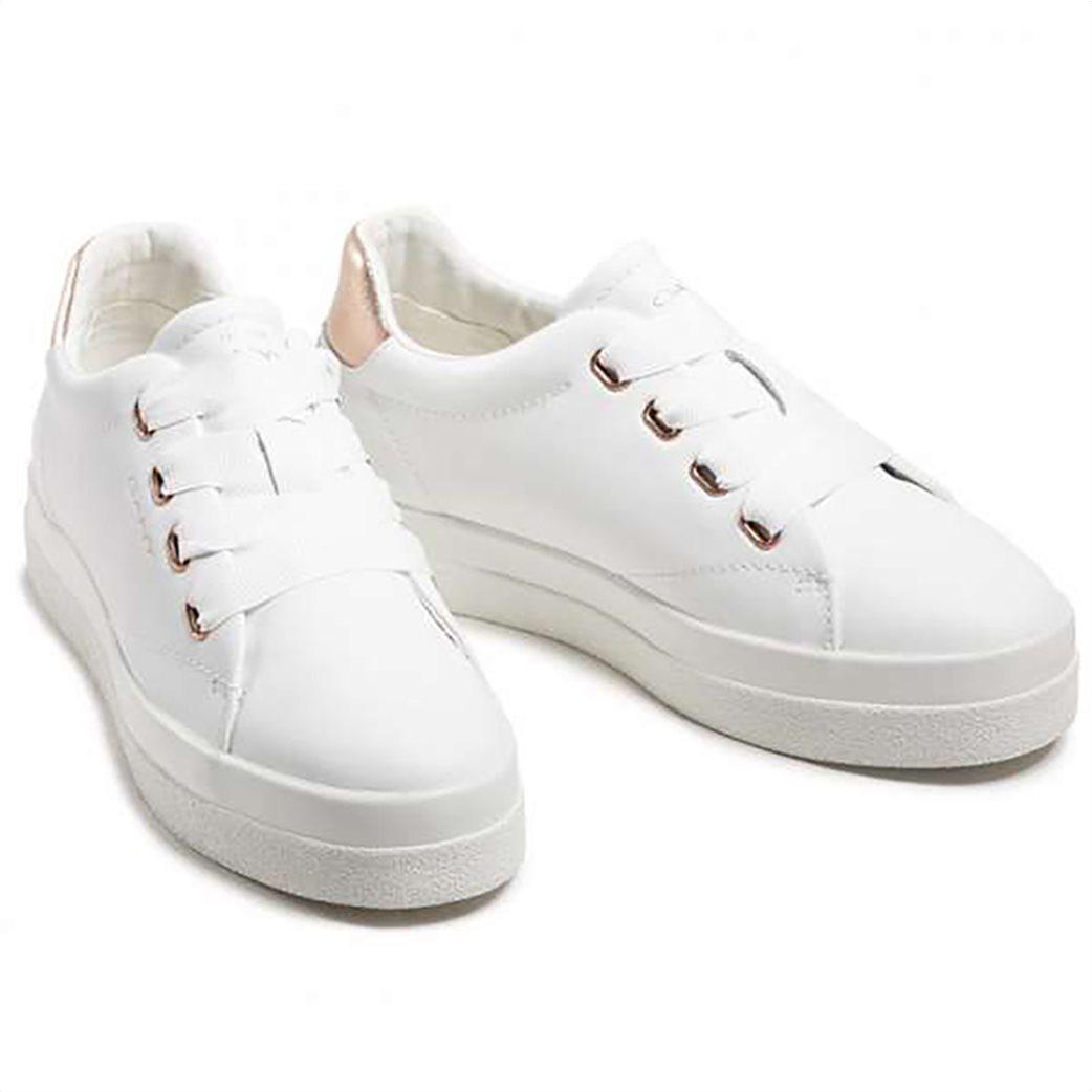Gant γυναικεία sneakers με μεταλλιζέ λεπτομέρεια ''Avona'' Λευκό 3
