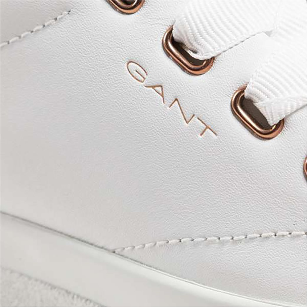 Gant γυναικεία sneakers με μεταλλιζέ λεπτομέρεια ''Avona'' Λευκό 4