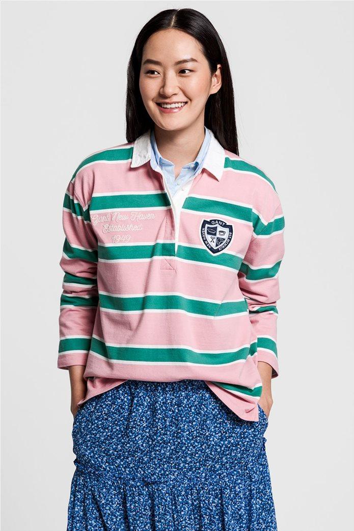 "Gant γυναικεία μπλούζα πόλο μπλούζα με ριγέ σχέδιο "" Varsity Heavy Rugger"" 0"