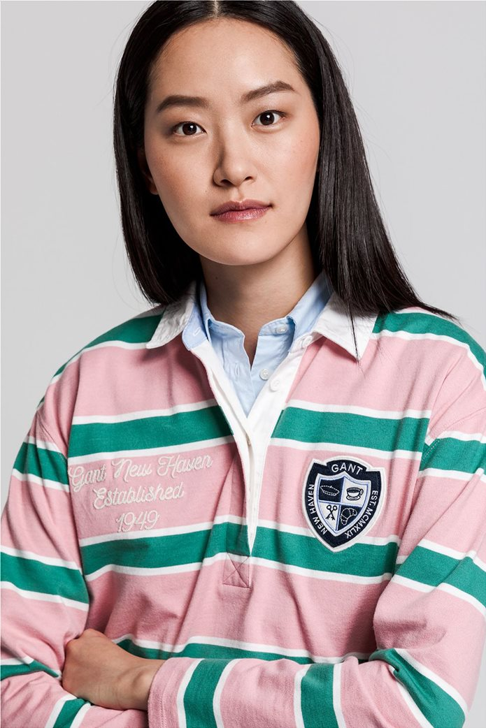 "Gant γυναικεία μπλούζα πόλο μπλούζα με ριγέ σχέδιο "" Varsity Heavy Rugger"" 1"