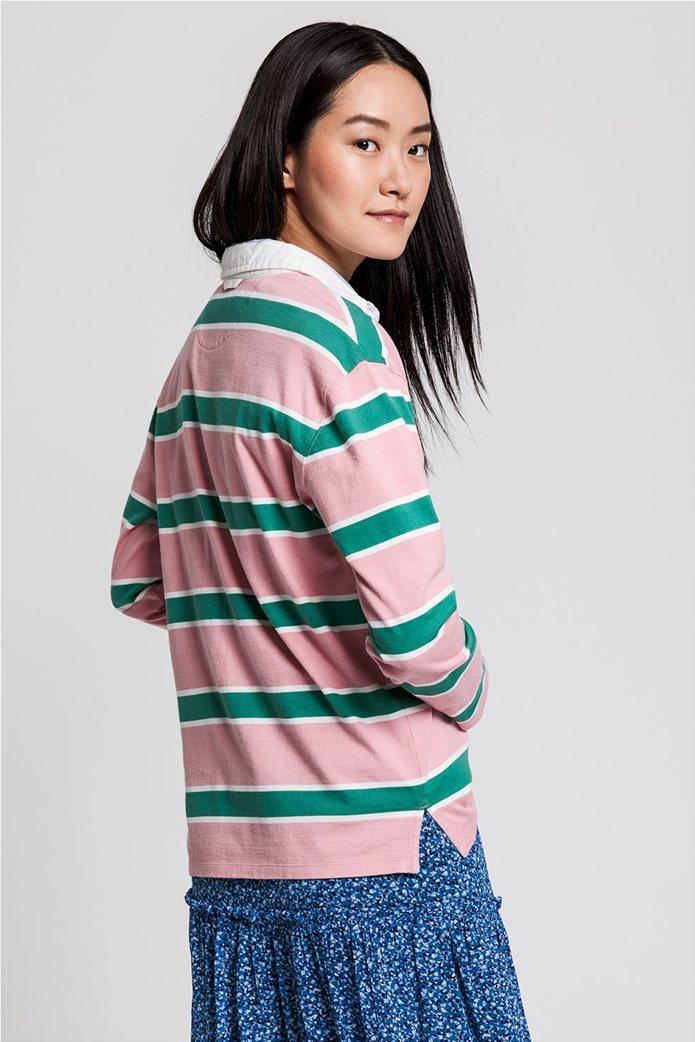 "Gant γυναικεία μπλούζα πόλο μπλούζα με ριγέ σχέδιο "" Varsity Heavy Rugger"" 2"