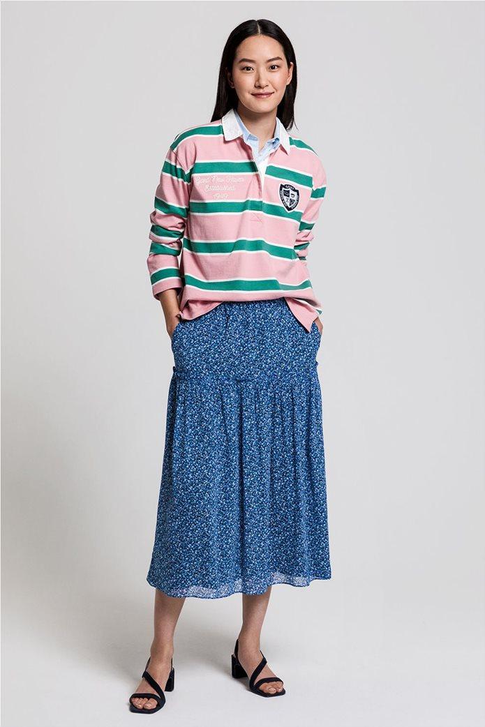 "Gant γυναικεία μπλούζα πόλο μπλούζα με ριγέ σχέδιο "" Varsity Heavy Rugger"" 3"