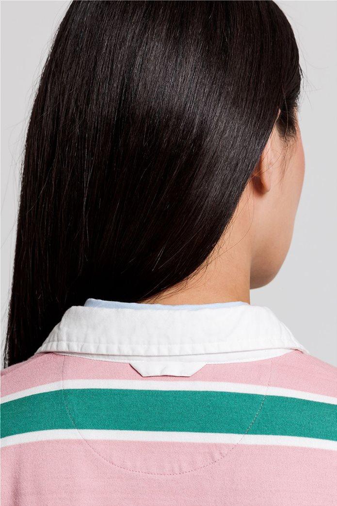 "Gant γυναικεία μπλούζα πόλο μπλούζα με ριγέ σχέδιο "" Varsity Heavy Rugger"" 4"