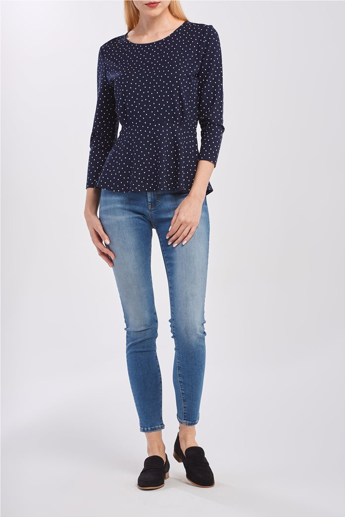 Gant γυναικεία μακρυμάνικη μπλούζα με πουά 1