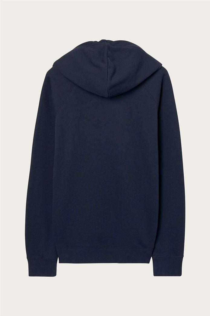 "Gant γυναικείο φούτερ με λογότυπο ""Shield College Hoodie"" Μπλε Σκούρο 2"