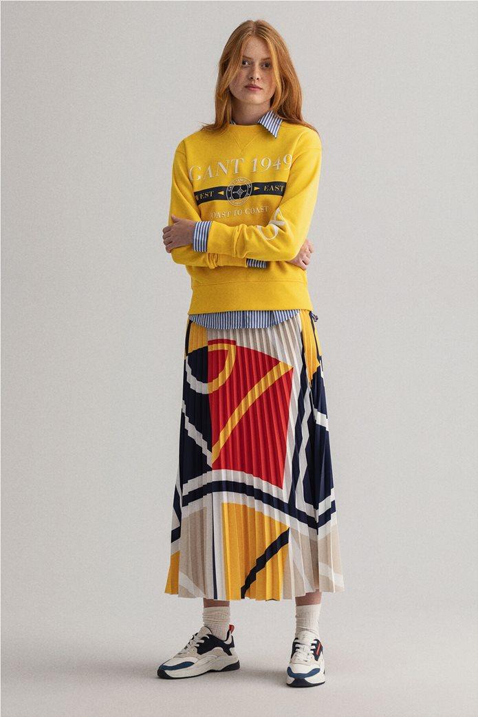 "Gant γυναικεία μπλούζα φούτερ με logo print ""Nautical"" 1"