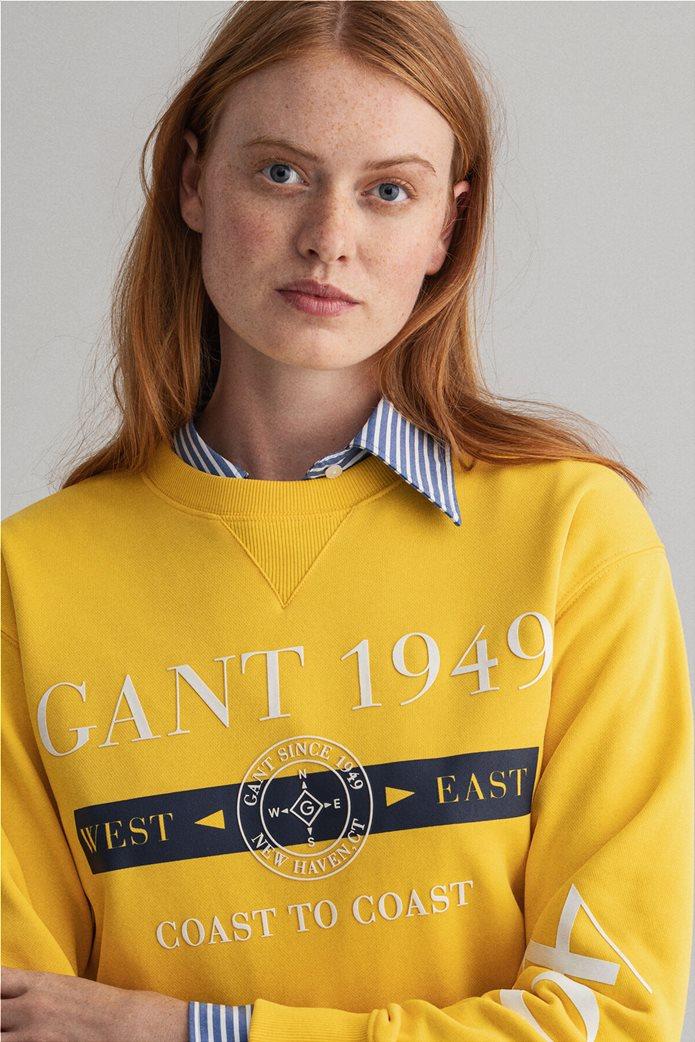 "Gant γυναικεία μπλούζα φούτερ με logo print ""Nautical"" 3"