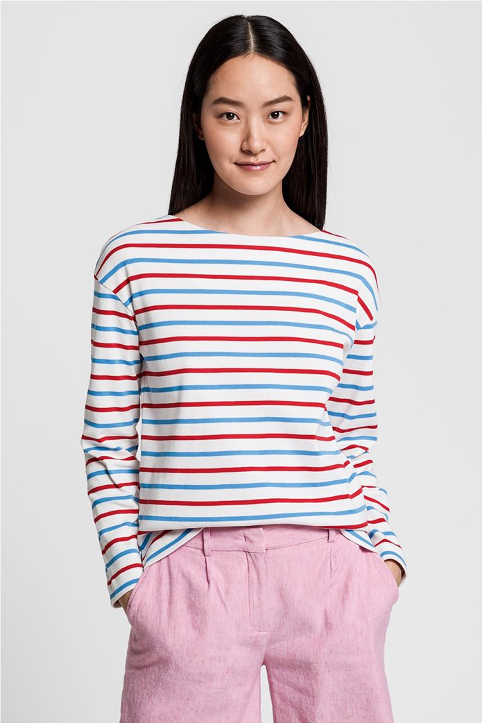 "Gant γυναικεία μακρυμάνικη ριγέ μπλούζα ""Striped Boatneck"" 0"