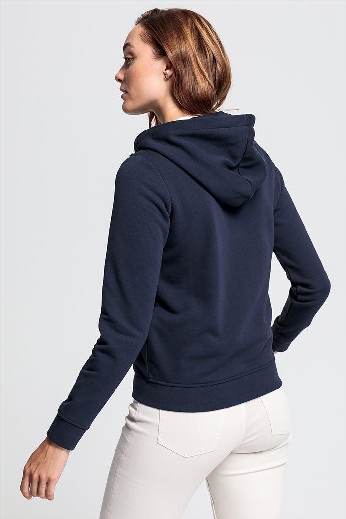 "Gant γυναικεία φούτερ ζακέτα με κουκούλα ""Arch logo' 2"