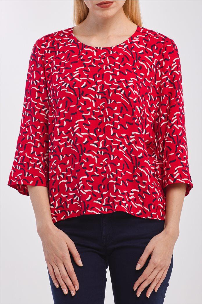 Gant γυναικεία μπλούζα με graphic print και μανίκι 3/4 0