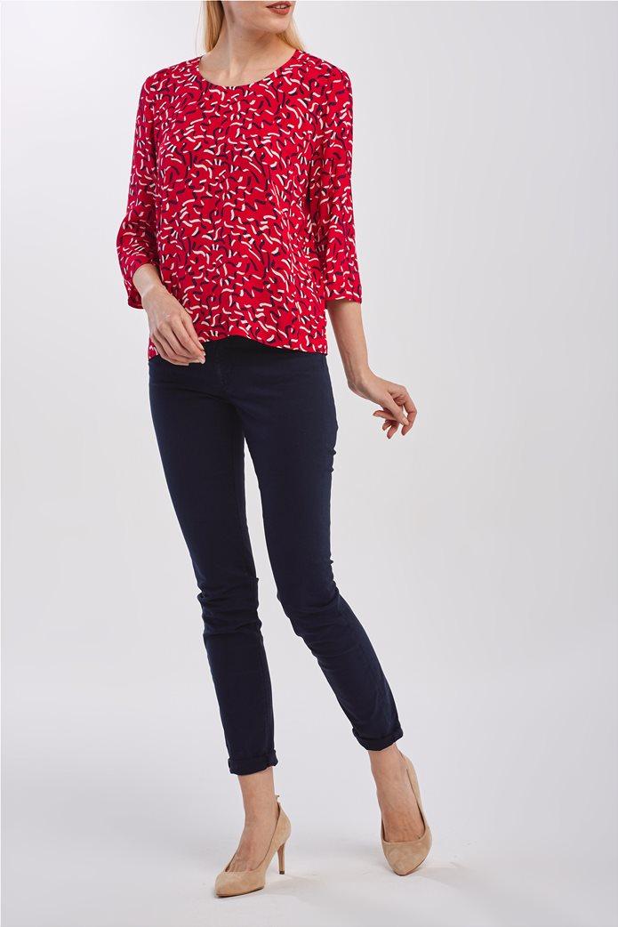Gant γυναικεία μπλούζα με graphic print και μανίκι 3/4 1