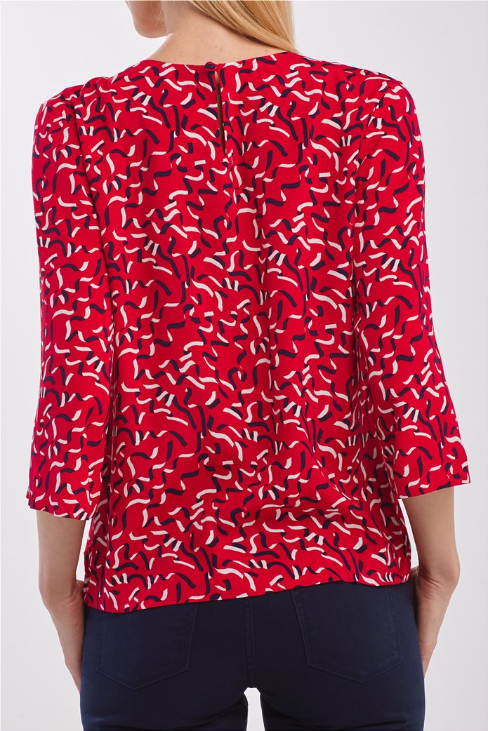 Gant γυναικεία μπλούζα με graphic print και μανίκι 3/4 2