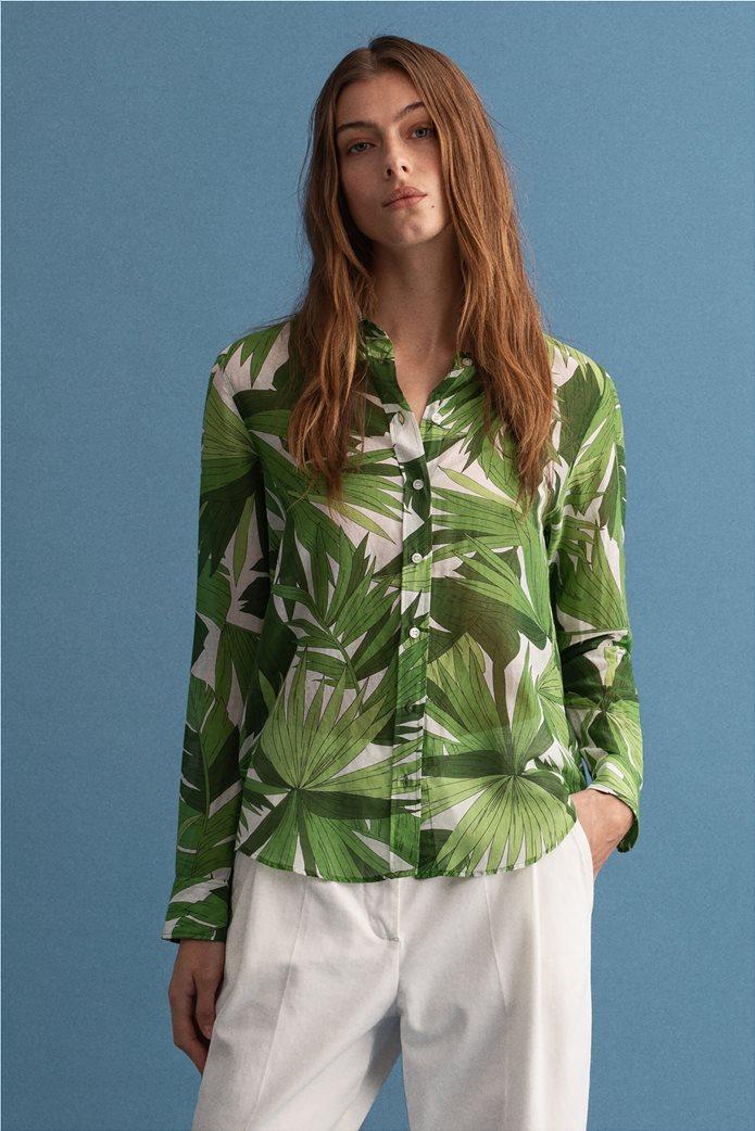 Gant γυναικείο πουκάμισο με all-over leaf print ''Palm Breeze'' 0