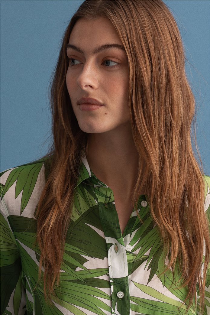 Gant γυναικείο πουκάμισο με all-over leaf print ''Palm Breeze'' 2