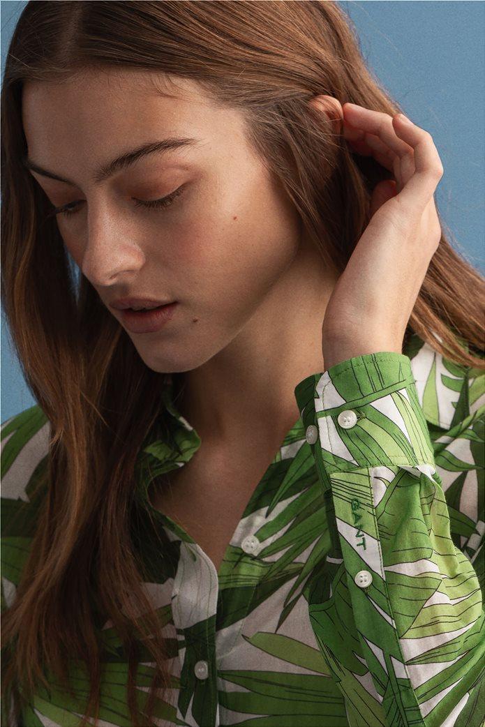 Gant γυναικείο πουκάμισο με all-over leaf print ''Palm Breeze'' 4