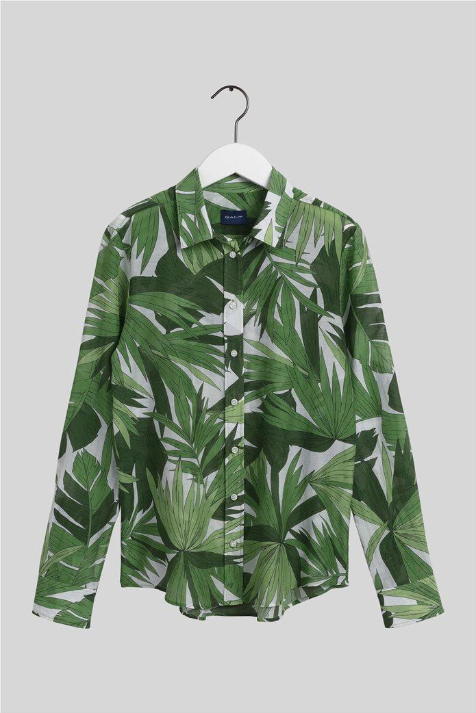Gant γυναικείο πουκάμισο με all-over leaf print ''Palm Breeze'' 5
