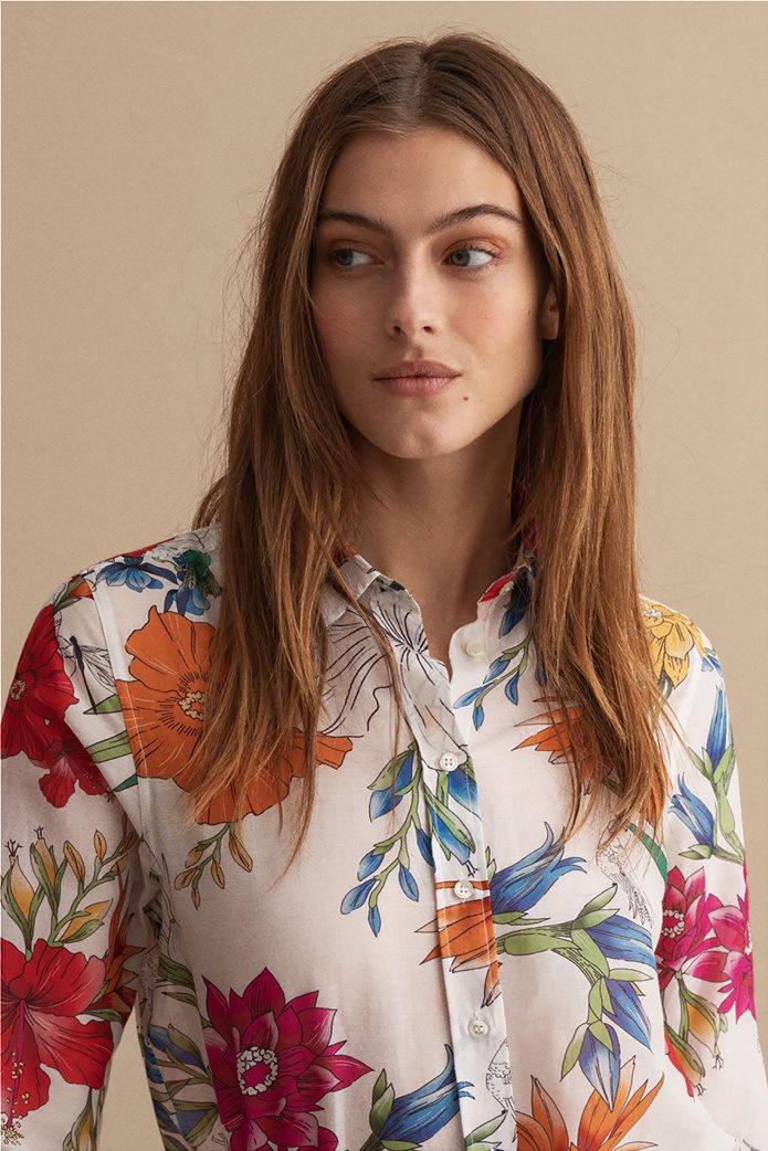 Gant γυναικείο πουκάμισο με all-over floral print Regular Fit 1