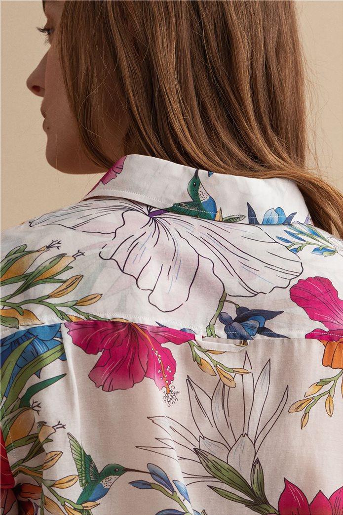 Gant γυναικείο πουκάμισο με all-over floral print Regular Fit 4